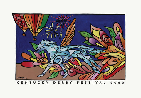 2020 Kentucky Derby Festival Official Postcard