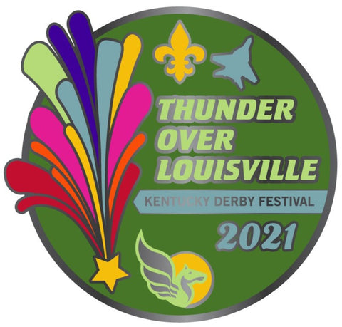 2021 Thunder Over Louisville Metal Pin