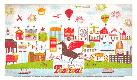 2017 Kentucky Derby Festival Limited Edition Landscape Poster