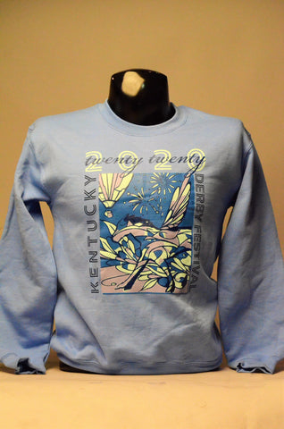 2020 Kentucky Derby Festival Unisex Faded Blue Sweatshirt