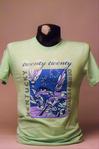2020 Kentucky Derby Festival Unisex Lime T-Shirt