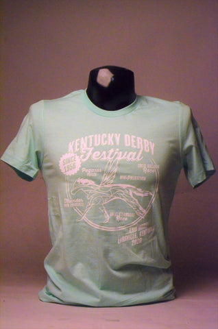 2020 Kentucky Derby Festival Unisex Retro Mint T-Shirt
