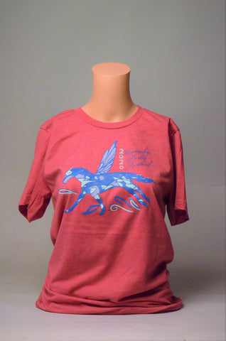 2020 Kentucky Derby Festival Ladies Vintage Red Pegasus T-Shirt
