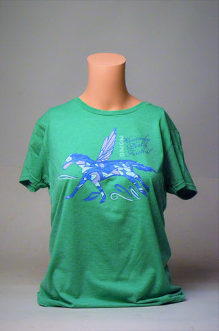 2020 Kentucky Derby Festival Ladies Green Pegasus T-Shirt