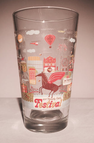 2017 Kentucky Derby Festival Pint Glass