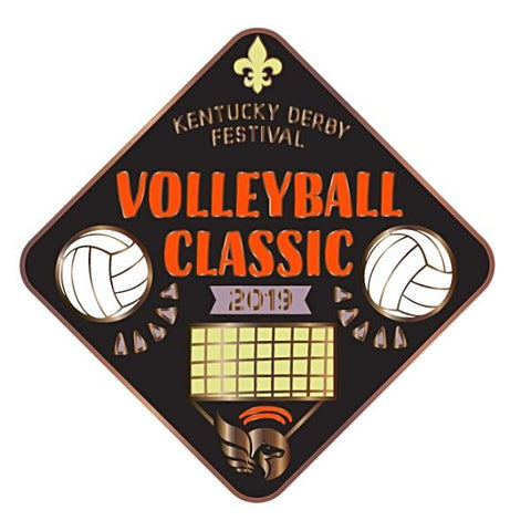 2019 Volleyball Classic Metal Event Pin