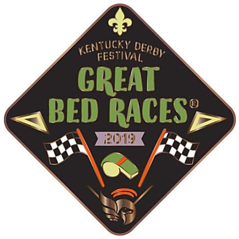 2019 Bed Races Event Metal Pin