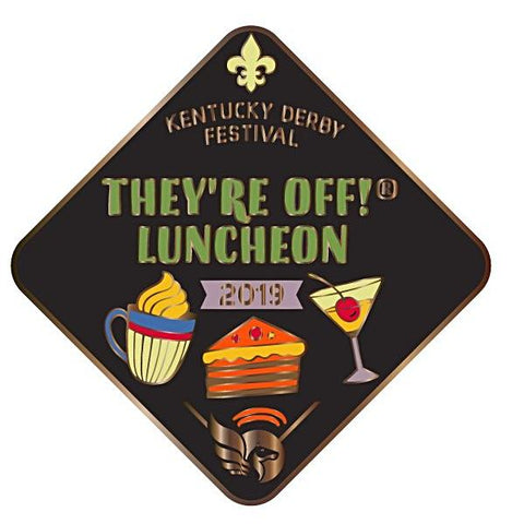 2019 They're Off Luncheon Metal Event Pin