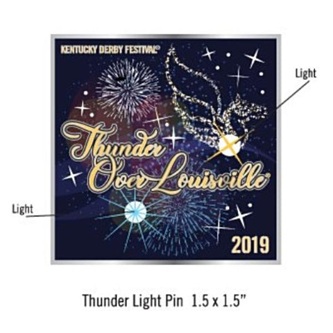 2019 Thunder Metal Light Up Event Pin