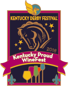 2018 Metal Kentucky Proud Winefest Pin
