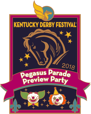 2018 Metal Pegasus Parade Preview Party Pin