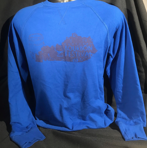 State Print - Long Sleeve Royal Blue Raglan