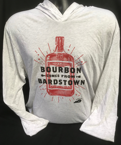 Bourbon Comes From Bardstown-Hooded Tee Winter White