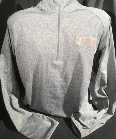 Embroidered 1/4 Zip-Heather Gray