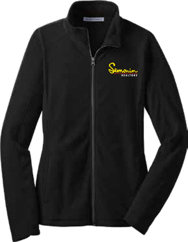 Semonin Realtors - Ladies' Black Fleece Zip