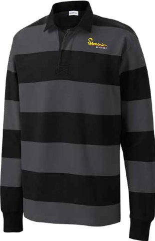 Semonin Realtors - Black & Gray Striped Shirt