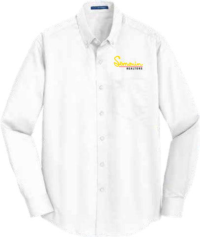 Semonin Realtors - Men's White Long Sleeve Shirt