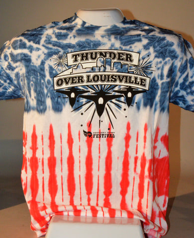 2019 Thunder Tie Dyed Flag T-Shirt