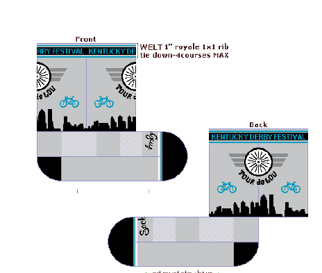 KDF Tour de Lou Custom Socks