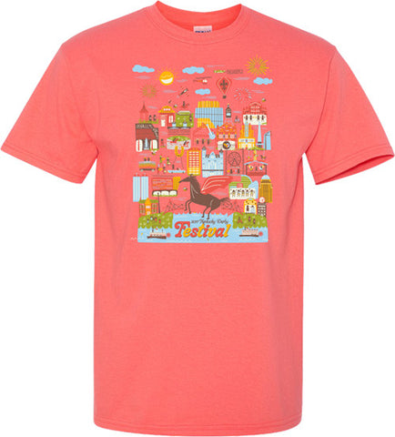 2017 KDF Cotton T-Shirt - Coral