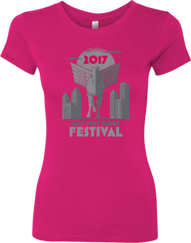 2017 KDF Ladies Pegasus Premium T-Shirt - Raspberry
