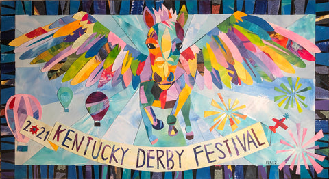 2021 Kentucky Derby Festival Official Poster ----FREE FREIGHT PRESALE!!