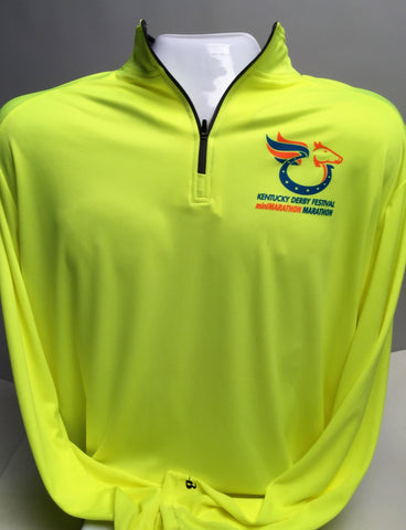 Safety Yellow Quarter Zip Pullover