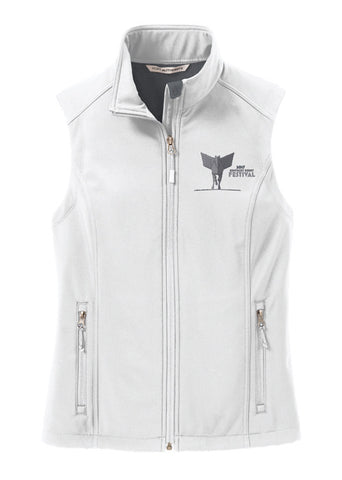 2017 KDF Ladies Softshell Vest - White
