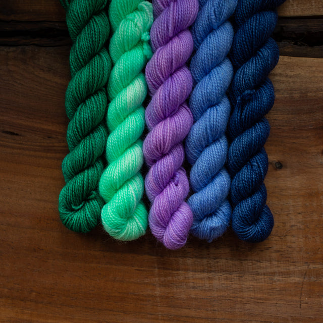 Mini Skein Bundle: Cool Jewel Tones