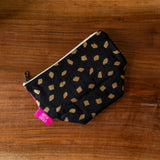 One of a Kind Quilted Notions Pouch - Harlequin