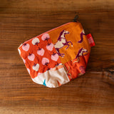 One of a Kind Quilted Notions Pouch - Wild Horses and Berries (warm)