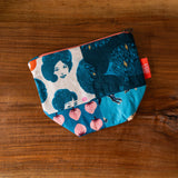 One of a Kind Quilted Notions Pouch - Blue Medley