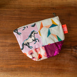 One of a Kind Quilted Notions Pouch - Horse Medley