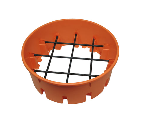 25 Inch FailSafe Pier Footer Base (Includes Rebar) - Atlas Pier Footer