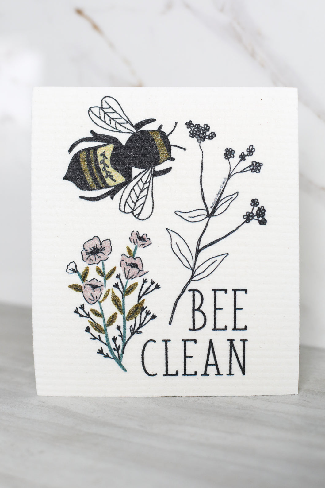 Swedish Dishcloth Bee Clean