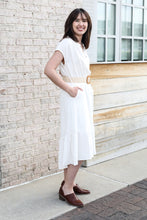 Load image into Gallery viewer, Ivory High Low Dress With Belt Large