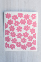 Load image into Gallery viewer, Swedish Dishcloth Pink Poppies