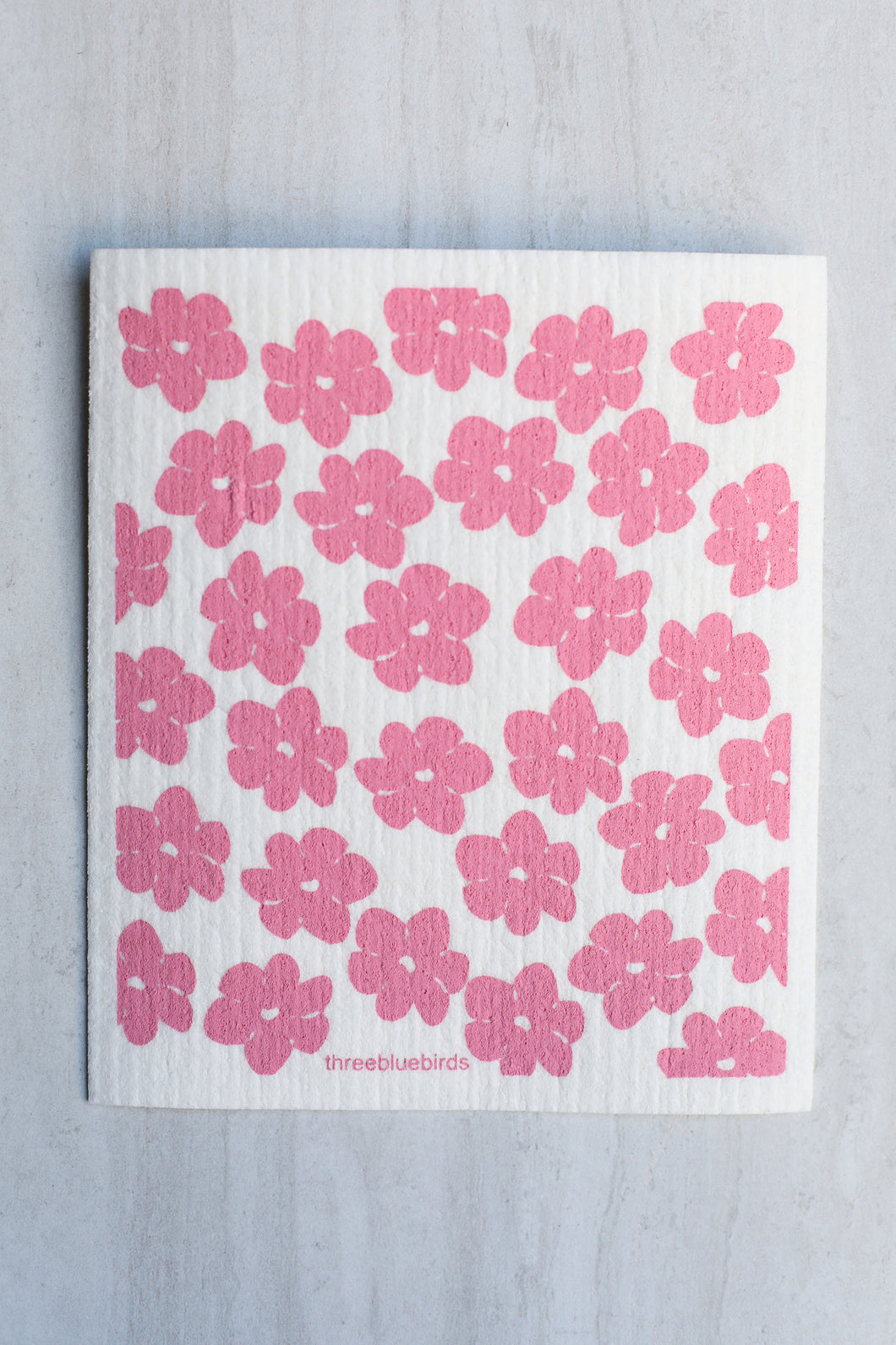 Swedish Dishcloth Pink Poppies