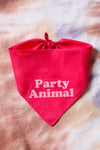 Dog Bandana Party Animal Large
