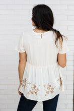 Load image into Gallery viewer, Ivory Top with Embroidered Details  Large