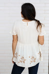 Ivory Top with Embroidered Details  Large