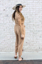 Load image into Gallery viewer, Camel Jumpsuit Large