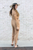 Camel Jumpsuit Medium