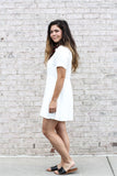 Short Sleeve Button Dress Small