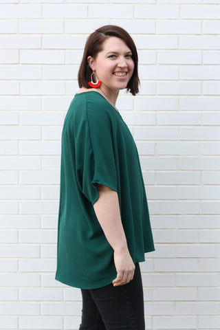 Oversized Tee Large Hunter Green