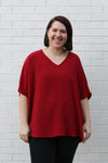 Oversized Tee Medium Burgundy