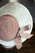 Load image into Gallery viewer, Vintage Dobbs Straw Brim Hat