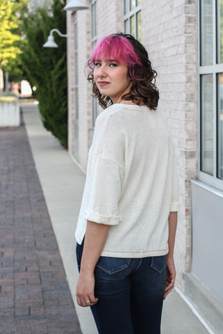Speckled Knit Top Small