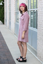 Load image into Gallery viewer, Ash Purple Corduroy Shirt Dress Small