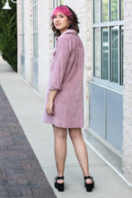 Load image into Gallery viewer, Ash Purple Corduroy Shirt Dress 2XL